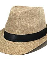 Недорогие -Муж. Классический Соломенная шляпа / Шляпа от солнца Однотонный
