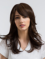 cheap -Synthetic Wig Curly Side Part Synthetic Hair 20 inch Natural Hairline Brown Wig Women's Mid Length Capless Brown / Yes