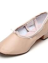 abordables -Femme Chaussures de Ballet Faux Cuir Plate Fantaisie Talon Plat Personnalisables Chaussures de danse Rose