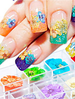 economico -12 pcs decalcomanie Colori sfumati / Migliore qualità / Monouso Creativo Fiore decorativo manicure Manicure pedicure Quotidiano Romantico / Di tendenza