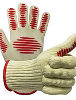 Недорогие -1 пара Термостойкое волокно Силиконовый гель Защитные перчатки Безопасность и защита Износостойкий Пожарный выход