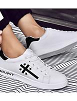 Недорогие -Муж. Комфортная обувь Полиуретан Весна & осень Кеды Белый / Розовый и белый / Черно-белый