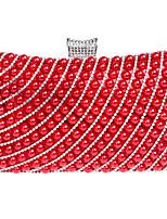 Недорогие -Жен. Мешки Акрил / Сплав Вечерняя сумочка Жемчужная отделка Черный / Красный / Серебряный