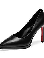 baratos -Mulheres Sapatos Confortáveis Pele Napa Outono Saltos Salto Agulha Preto