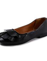 Недорогие -Жен. Комфортная обувь Полиуретан Осень Минимализм На плокой подошве На плоской подошве Белый / Черный / Зеленый