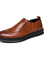 Недорогие -Муж. Официальная обувь Кожа Весна & осень Деловые / На каждый день Мокасины и Свитер Доказательство износа Черный / Коричневый