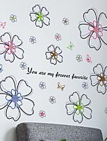 cheap -Window Film & Stickers Decoration Floral / Ordinary Geometric PVC(PolyVinyl Chloride) Window Sticker / Lovely