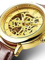 Недорогие -Муж. Жен. Нарядные часы Механические часы Японский С автоподзаводом 30 m Защита от влаги Фосфоресцирующий Крупный циферблат Натуральная кожа Группа Аналоговый На каждый день Мода