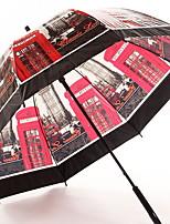 Недорогие -boy® Нержавеющая сталь Все Солнечный и дождливой / Полупрозрачный Зонт-трость