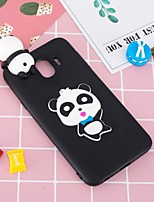 cheap -Case For Samsung Galaxy J6 / J4 Pattern / DIY Back Cover Panda Soft TPU for J7 (2017) / J7 (2016) / J6