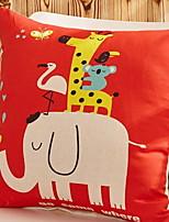 Недорогие -Наволочки Праздник Хлопковая ткань Квадратный Оригинальные Рождественские украшения