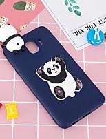baratos -Capinha Para Samsung Galaxy J6 / J4 Estampada / Faça Você Mesmo Capa traseira Panda Macia TPU para J7 (2017) / J7 (2016) / J6