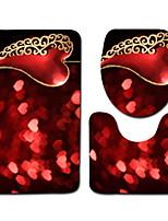Недорогие -3 предмета Modern Коврики для ванны 100 г / м2 полиэфирный стреч-трикотаж Креатив / Цветочный принт нерегулярный Cool