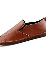 Недорогие -Муж. Комфортная обувь Полиуретан Осень На каждый день Мокасины и Свитер Дышащий Черный / Темно-русый