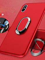 billiga -fodral Till Apple iPhone X / iPhone 8 Ringhållare / Frostat Skal Enfärgad Mjukt TPU för iPhone X / iPhone 8 Plus / iPhone 8