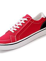 Недорогие -Муж. Комфортная обувь Полотно Осень На каждый день Кеды Нескользкий Контрастных цветов Черный / Серый / Красный