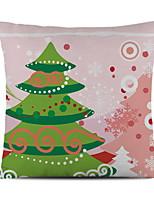 Недорогие -Наволочка / Рождественские украшения Праздник Хлопковая ткань Прямоугольный Оригинальные Рождественские украшения