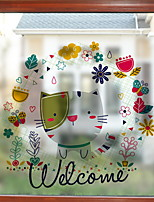 cheap -Window Film & Stickers Decoration Contemporary Character PVC(PolyVinyl Chloride) Window Sticker / Cute