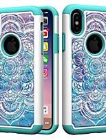 Недорогие -Кейс для Назначение Apple iPhone XR / iPhone XS Max Защита от удара / Стразы Кейс на заднюю панель Мандала / Стразы Твердый ПК для iPhone XS / iPhone XR / iPhone XS Max