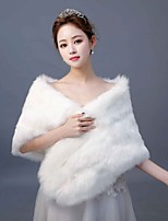 cheap -Sleeveless Faux Fur Wedding / Party / Evening Women's Wrap With Plaid Shawls