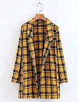 cheap -women's long blazer-color block notch lapel