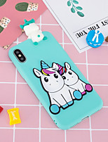 cheap -Case For Apple iPhone X / iPhone 8 Plus Pattern / DIY Back Cover Unicorn Soft TPU for iPhone X / iPhone 8 Plus / iPhone 8