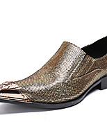 Недорогие -Муж. Официальная обувь Наппа Leather Осень Английский Туфли на шнуровке Доказательство износа Золотой / Для вечеринки / ужина