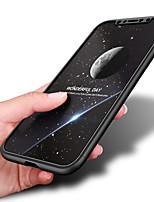 Недорогие -Кейс для Назначение Apple iPhone X / iPhone XS Защита от удара Кейс на заднюю панель Однотонный Твердый ПК для iPhone XS / iPhone X / iPhone 8 Pluss