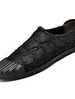 Недорогие -Муж. Комфортная обувь Искусственная кожа / Полиуретан Осень Мокасины и Свитер Черный / Коричневый / Хаки