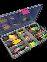 baratos -30 pcs Iscas Isco Duro / Colheres Metalic Fácil Uso Pesca de Mar / Pesca Voadora / Isco de Arremesso / Pesca no Gelo / Rotação / Pesca de Gancho / Pesca de Água Doce / Pesca de Carpa