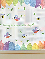 cheap -Window Film & Stickers Decoration Ordinary Character PVC(PolyVinyl Chloride) Cute