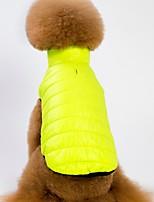 baratos -Cachorros / Gatos Casacos / Colete Roupas para Cães Sólido Roxo / Verde / Rosa claro Lã Polar Ocasiões Especiais Para animais de estimação Masculino Aquecimento / Estilo simples