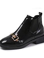 Недорогие -Жен. Fashion Boots Полиуретан Осень Минимализм Ботинки На толстом каблуке Ботинки Черный