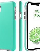 baratos -Capinha Para Apple iPhone XR / iPhone XS Max Antichoque / Ultra-Fina / Estampada Capa Proteção Completa Sólido Rígida TPU / PC para iPhone XR / iPhone XS Max