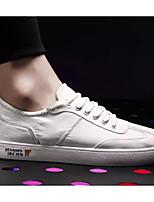 Недорогие -Муж. Комфортная обувь Полотно Лето Кеды Белый / Черный