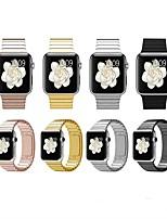 baratos -Pulseiras de Relógio para Apple Watch Series 4/3/2/1 Apple Fecho Clássico Aço Inoxidável Tira de Pulso