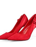Недорогие -Жен. Комфортная обувь Замша Лето Обувь на каблуках На шпильке Красный