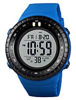 baratos -SKMEI Homens Relógio Esportivo Relógio Militar Japanês Digital 50 m Alarme Calendário Cronógrafo PU Banda Digital Casual Fashion Preta / Azul / Vermelho - Azul Khaki Preto / Branco Um ano Ciclo de