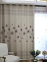 Недорогие -Шторы портьеры Спальня Цветочный принт / Геометрический принт Полиэстер С принтом