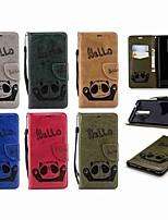abordables -Coque Pour Nokia Nokia 5.1 / Nokia 3.1 Portefeuille / Porte Carte / Clapet Coque Intégrale Panda Dur faux cuir pour Nokia 5 / Nokia 5.1 / Nokia 3