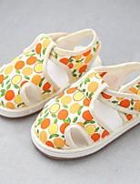Недорогие -Девочки Обувь Полотно Лето Обувь для малышей На плокой подошве На липучках для Дети (1-4 лет) Желтый / Розовый