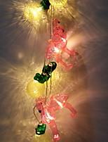 baratos -1.5m Cordões de Luzes 10 LEDs Branco Quente Novo Design / Decorativa / Legal Baterias AA alimentadas 1conjunto