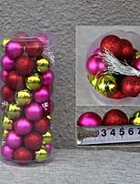 Недорогие -Рождественские украшения Новогодняя ёлка пластик / PVC Круглый Оригинальные Рождественские украшения