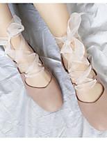 Недорогие -Жен. Комфортная обувь Полиуретан Весна & осень Обувь на каблуках На толстом каблуке Черный / Розовый