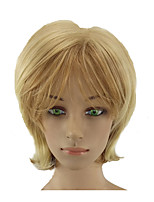 cheap -Synthetic Wig Straight Blonde Layered Haircut Synthetic Hair 12 inch Normal / Soft / Heat Resistant Blonde Wig Women's Short Capless Blonde