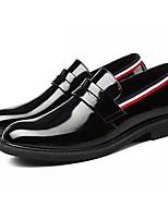 Недорогие -Муж. Официальная обувь Искусственная кожа / Полиуретан Осень Мокасины и Свитер Контрастных цветов Черный