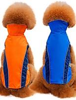 billiga -Hund / Katt Kappor / Väst Hundkläder Enfärgad Röd / Blå Terylen Kostym För husdjur Unisex Minimalistisk Stil / Ledig / Sportig