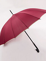 Недорогие -Нержавеющая сталь Все Солнечный и дождливой / Новый дизайн Зонт-трость