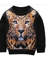 Недорогие -Дети Мальчики Тигр Однотонный / Контрастных цветов Длинный рукав Блуза