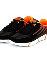 Недорогие -Муж. Комфортная обувь Полиуретан Осень На каждый день Кеды Нескользкий Черно-белый / Черный / Красный / Оранжевый и черный